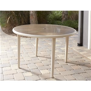 Novogratz Outdoor Living Santa Fe Dining Table - Aluminum Top - 49.1-in x 14.1-in - Brown