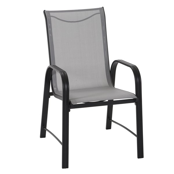 Cosco Outdoor Living Paloma Steel Patio Dining Chairs - Gray - 6-Pk