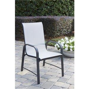 Chaises à dîner de patio en acier Paloma de Cosco Outdoor Living, gris, 6 mcx