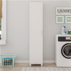 System Build Callahan Utility Storage Cabinet - 12.44-in x 54-in x 20.31-in - White