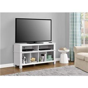 Meuble pour téléviseur jusqu'à 55 po Woodcrest, 53,54 po x 15,71 po x 27,48 po, blanc