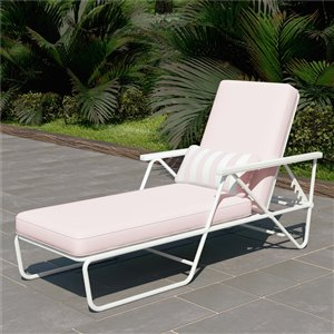 Novogratz Poolside Gossip Collection Connie Chaise Lounge - Pink
