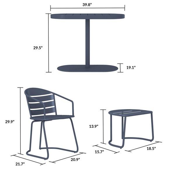 Cosco Outdoor Furniture 5-Piece Patio Bistro Set - Gray