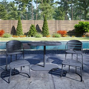 Cosco Outdoor Furniture 5-Piece Patio Bistro Set - Gray