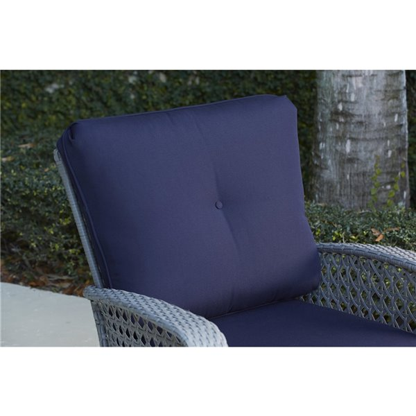 Cosco Outdoor Living Lakewood Ranch Lounge Chairs - Gray - 2-Pk
