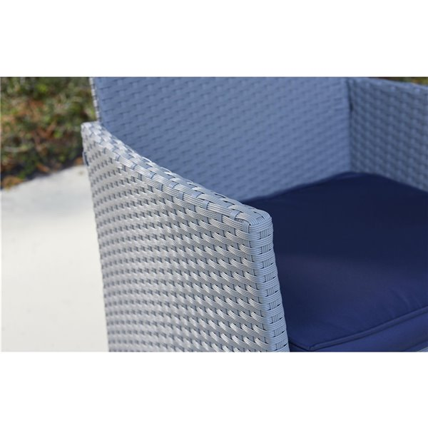 Cosco Outdoor Living 4-Piece Jamaica Conversation Set - Gray