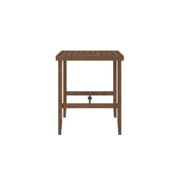 Cosco Outdoor Living Patio Bar Table - Steel - 32.09-in x 50-in - Brown
