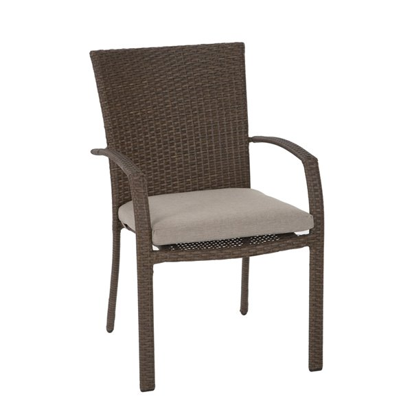 Cosco Outdoor Living Lakewood Ranch Intellifit Dining Chairs - Tan - 6-Pk