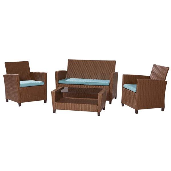 Cosco Outdoor Living 4-Piece Malmo Conversation Set - Bown
