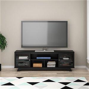 Meuble pour téléviseur jusqu'à 80 po Englewood, 71,61 po x 17,52 po x 22,61 po, noir