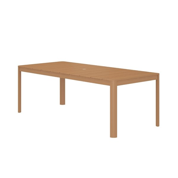 Cosco Outdoor Furniture Patio Dining Table - 39.37-in x 87.6-in - Tan