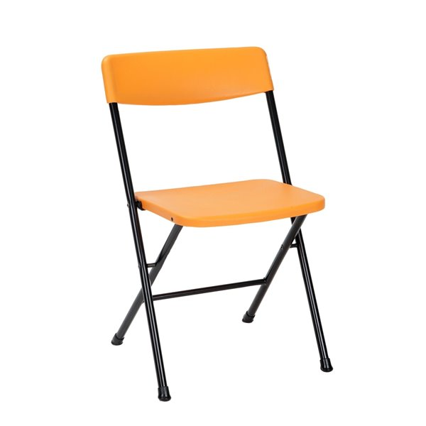 Cosco 3-Piece Indoor Outdoor Centre-Fold Table & 2 Chairs - Orange