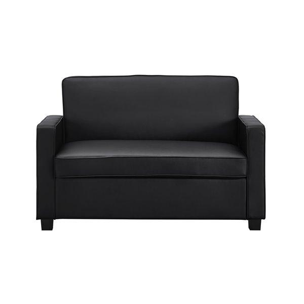 Dorel Signature Casey Loveseat Sofa Sleeper - Twin - Black