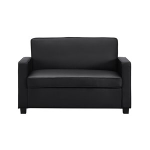 Dorel Signature Casey Loveseat Sofa Sleeper - Twin - Black