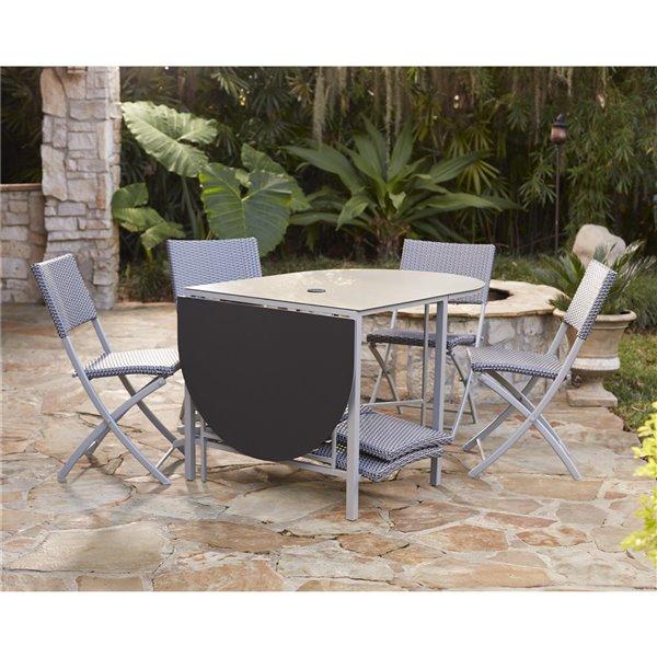 Cosco Outdoor Living 7-Piece Intellifit Delray Patio Dining Set - Gray