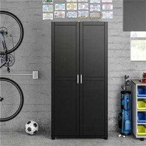 Cabinet de rangement utilitaire Callahan de System Build, 15,38 po x 35,68 po x 74,31 po, noir