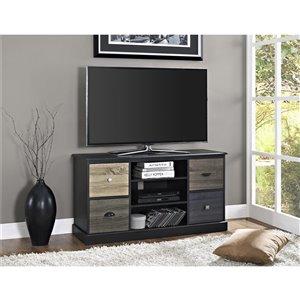 Meuble pour téléviseur Mercer avec porte multicolore, 47,5 po x 15,7 po x 25 po, noir