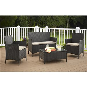 Cosco Outdoor Living 4-Piece Jamaica Conversation Set - Brown