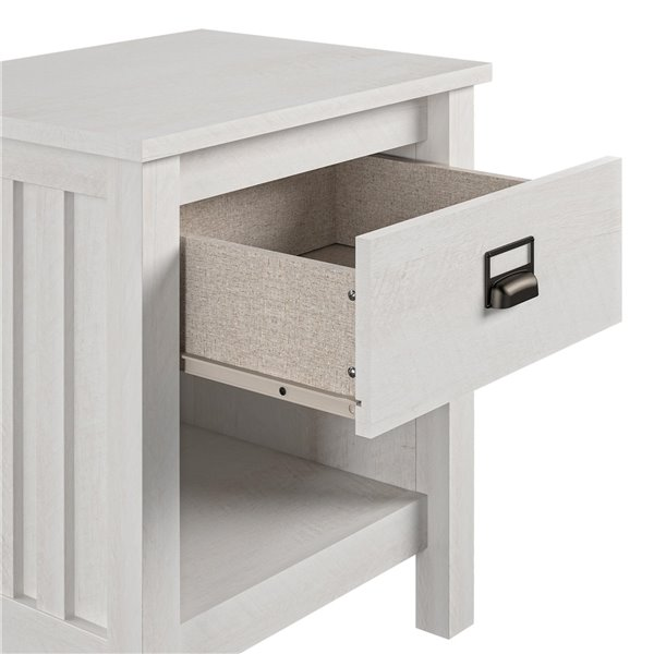 Ameriwood Adams Nightstand - 24.04-in - Wood - Ivory Oak