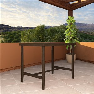 Table bar de patio Cosco Outdoor Living, acier, 32,09 po x 50 po, brun foncé