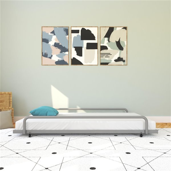 DHP Trundle for Daybed with Siderail - 71-in x 11.5-in x 45.5-in - Twin - Silver