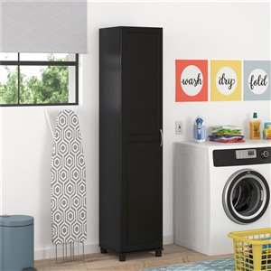 System Build Kendall Utility Storage Cabinet - 15.38-in x 15.69-in x 74.31-in - Black