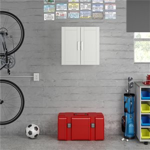 System Build Callahan Wall Cabinet - 15.38-in x 35.68-in x 74.31-in - White