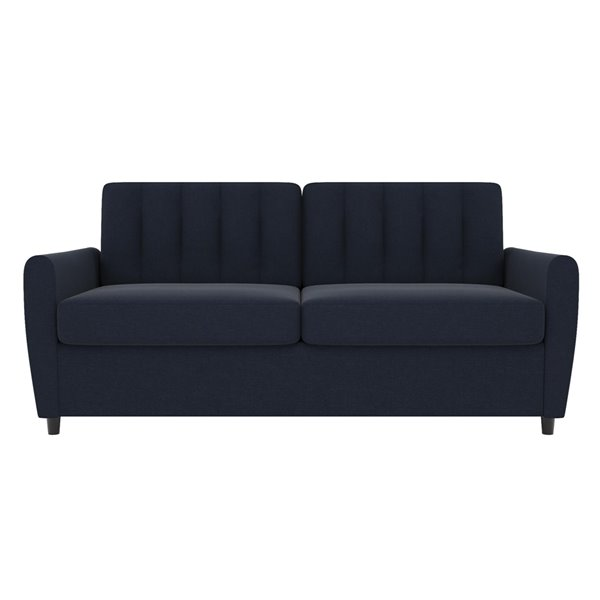 Dorel Novogratz Brittany Sleeper Sofa with Memory Foam Mattress - Queen - Blue