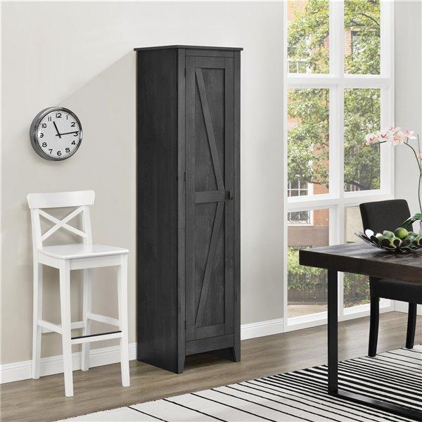 System Build Farmington Wide Storage Cabinet - 15.67-in x 18.19-in x 71.85-in - Rustic Gray