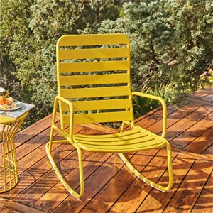 Chaise berceuse pour patio Gossip Roberta de Novogratz, jaune