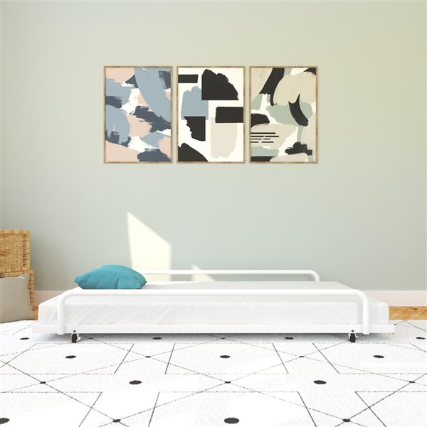 DHP Trundle for Daybed with Siderail - 71-in x 11.5-in x 45.5-in - Twin - White