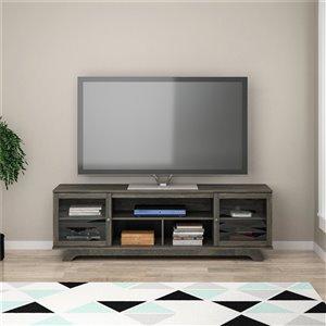 Meuble pour téléviseur jusqu'à 80 po Englewood, 71,61 po x 17,52 po x 22,61 po, chêne vieilli