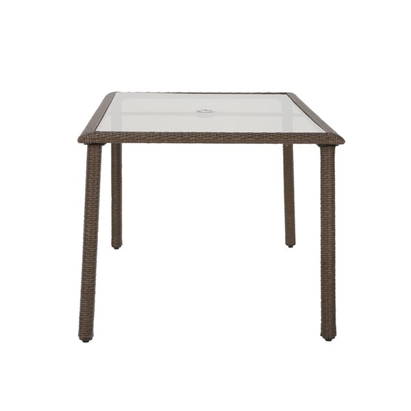 Cosco Outdoor Living Lakewood Ranch Dining Table - 35.83-in x 63.39-in - Brown
