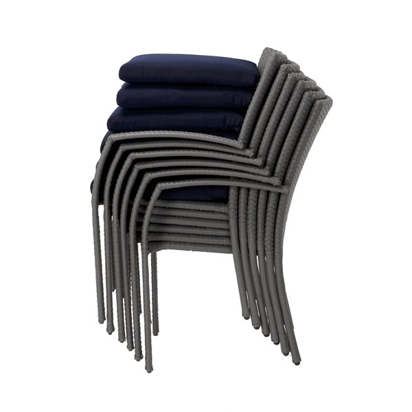 Cosco Outdoor Living Lakewood Ranch Intellifit Dining Chairs - Blue - 6-Pk