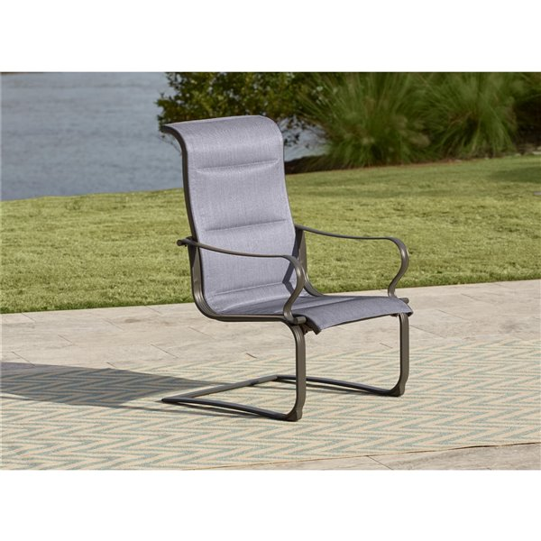 Cosco Outdoor Living SmartConnect Conversation Patio Chairs - Light Slate Gray - 2-Pk