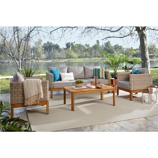 Chaises longues à siège profond Cosco Outdoor Living, beige, 2 mcx