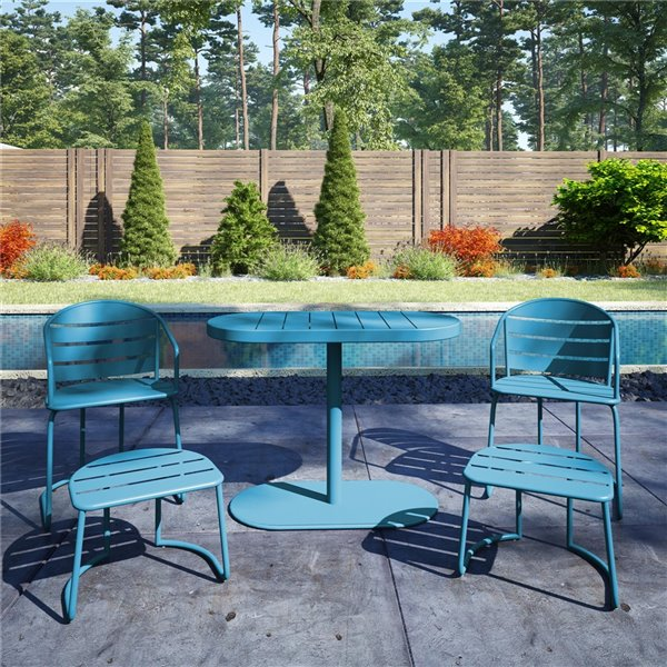 Cosco Outdoor Furniture 5-Piece Patio Bistro Set - Turquoise