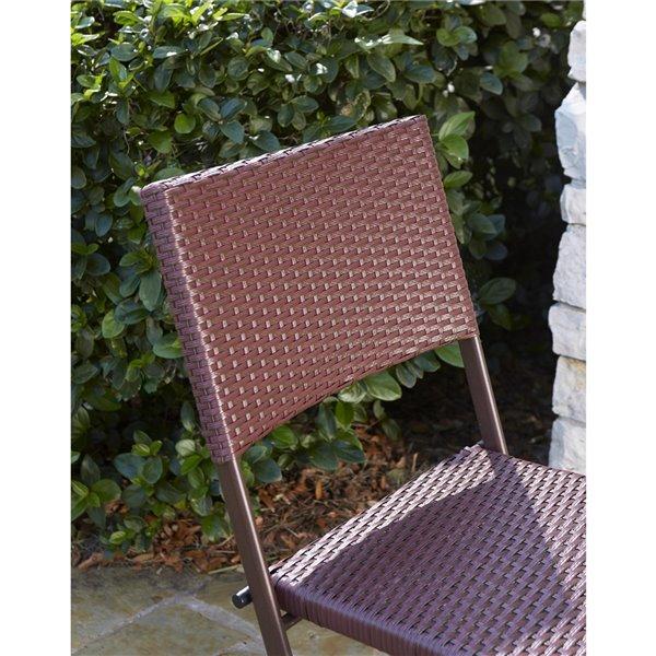 Cosco Outdoor Living Intellifit Patio Bistro Stools - Brown - 2-Pk