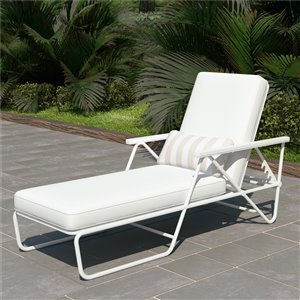 Novogratz Poolside Gossip Collection Connie Chaise Lounge - White