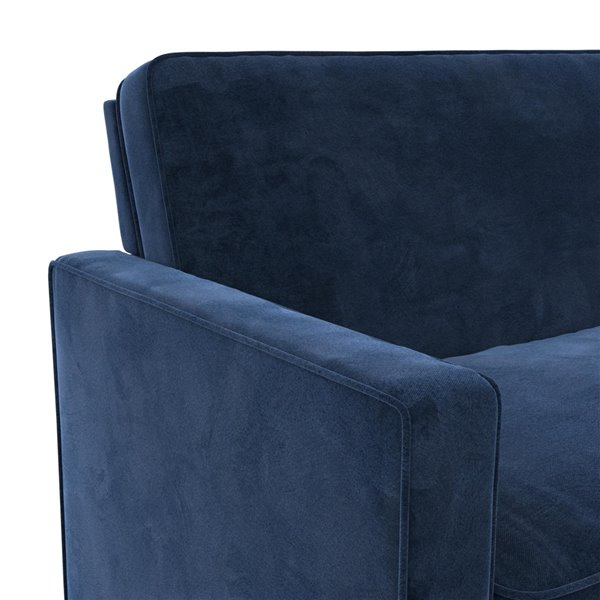 Dorel Signature Casey Loveseat Sofa Sleeper - Twin - Blue
