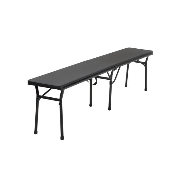 Cosco Indoor/Outdoor Center Fold Tailgate Bench - 6-ft - Black
