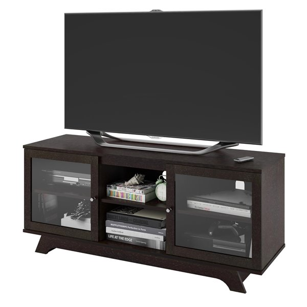 Ameriwood Home Englewood TV Stand for TVs up to 55-in - 53.63-in x 16.56-in x 22.94-in - Espresso