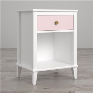 Table de chevet Monarch Poppy Hill de Little Seeds, 26,81 po, bois, rose