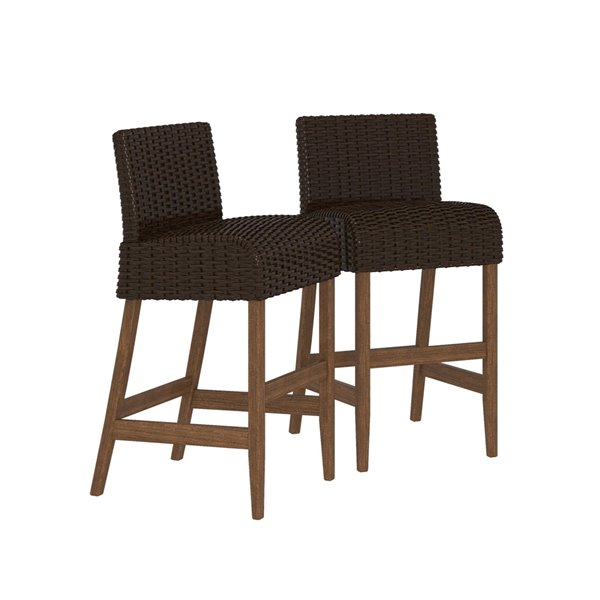 Cosco Outdoor Living SmartWick Patio Bar Stools - Dark Brown - 2-Pk
