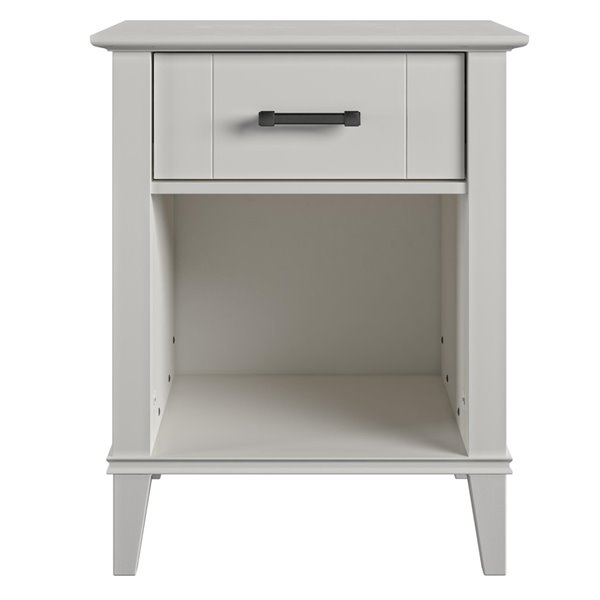 Novogratz Hazelridge Nightstand - 24.49-in - Wood - White