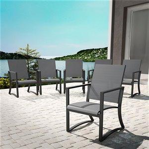 Chaises à dîner Cosco Outdoor Furniture, gris pâle, 6 mcx