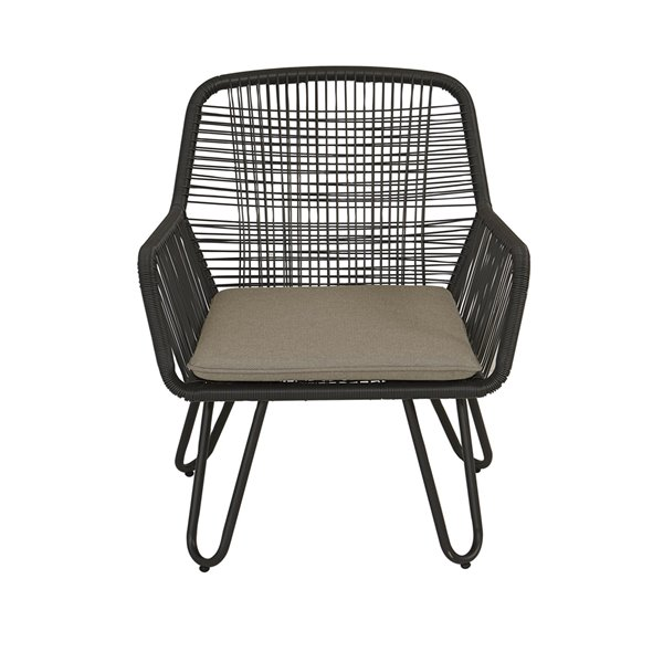 Novogratz Poolside Collection Marli Lounge Chairs - Gray - 2-Pk