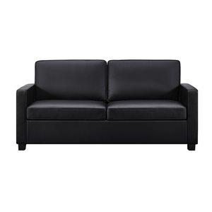 Canapé avec matelas mousse mémoire Signature Sleep Casey de Dorel, grand, noir