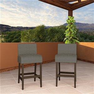 Cosco Outdoor Living SmartWick Patio Bar Stools - Gray - 2-Pk