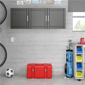 System Build Callahan Wall Cabinet - 12.44-in x 54-in x 20.31-in - Black